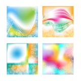 Colorful background collection with hearts Stock Photos