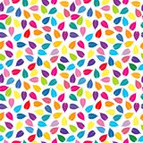 Colorful background with colored leaves, seamless pattern Stock Images