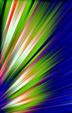 Colorful background of colored strips diverge from the bottom to the edges. Abstract unique image. Illustration and decoration. Blue and green, white and purple Stock Images