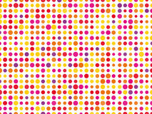 Colorful background. Composed of different sized dots stock illustration