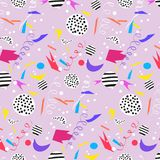 Colorful background with confetti. Colorful background with confetti, vector  pattern Stock Photo