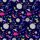Colorful background with confetti. Colorful background with confetti, vector  pattern Royalty Free Stock Images