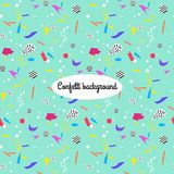 Colorful background with confetti. Colorful background with confetti, vector seamless pattern Royalty Free Stock Photo