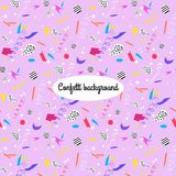 Colorful background with confetti. Colorful background with confetti, vector seamless pattern Stock Photo