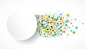 Colorful  background with confetti. Vector Stock Photo