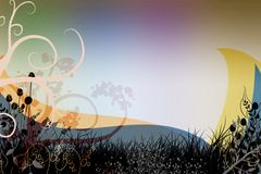 Colorful background cover swirls design image Stock Photos