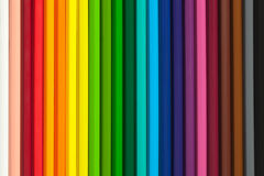 Colorful background with crayons Stock Images
