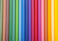 Colorful background with crayons Stock Photo