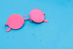 Colorful background. Colorful, creative closeup background with glasses stock photography