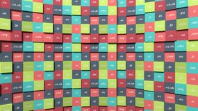Colorful background with cubes Stock Photos