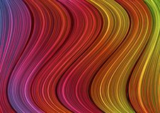 Colorful background with curved lines. Stock Image