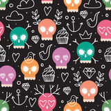 Colorful background for day of the dead Stock Photography