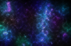 Colorful background of a deep space star field Stock Photo