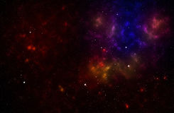 Colorful background of a deep space star field Stock Photos