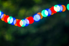 Colorful background with defocused lights Royalty Free Stock Photo