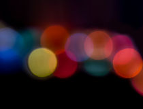 Colorful background with defocused lights.  Stock Images