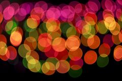 Colored bokeh background. Colorful background with defocused lights - raster version Stock Photos