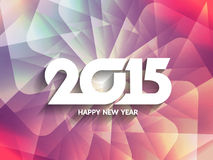 Colorful background design for happy new year 2015. Stock Image