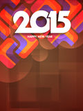 Colorful background design for happy new year 2015. Royalty Free Stock Images