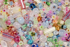 Colorful Background Of Different Beads Stock Image