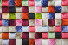 Colorful background. The different colors of fabric, consisting of background Stock Photography