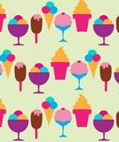 Colorful background of different ice-creams Royalty Free Stock Photos