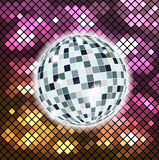 Colorful background with disco ball. Illustration 10 version Vector Illustration