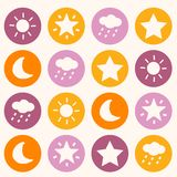 Colorful background with dots. Illustration Royalty Free Stock Photo