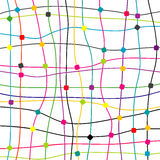 Colorful background with dots and lines Royalty Free Stock Images