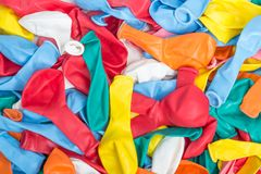 Colorful background of empty balloons Stock Photos