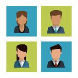 Colorful background of faceless profiles of business people Stock Image