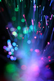 Colorful background of fiber optical network cable.. Royalty Free Stock Photography