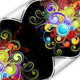 Colorful background flourish Royalty Free Stock Images