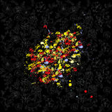 Colorful background with flowers. And colorful spots Royalty Free Stock Images
