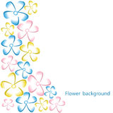 Colorful background. With flowers on  white.  Vector illustration Royalty Free Stock Photography