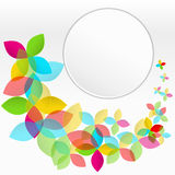 Colorful background with flying flowers Stock Photos
