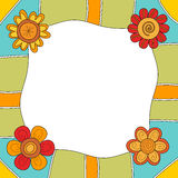 Colorful background or frame with flowers Royalty Free Stock Photography