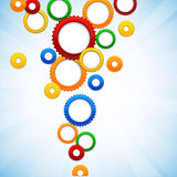 Colorful background with gear circles. Royalty Free Stock Image