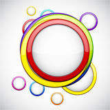 Colorful background with glossy circles. Vector abstract background contains of colorful glossy bubbles Stock Images