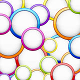 Colorful background with glossy circles. Vector abstract background contains of colorful glossy bubbles Stock Photography