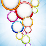 Colorful background with glossy circles. Vector abstract background contains of colorful glossy bubbles Stock Image
