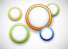 Colorful background with glossy circles. Vector abstract background contains of colorful glossy bubbles Royalty Free Stock Photography