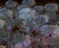 Colorful background. luminous led balls stock images