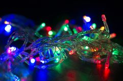 Background with Christmas garland Royalty Free Stock Photo