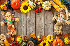 Colorful background for Halloween and Thanksgiving Stock Image
