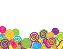 Hand drawn candies and sweets background. Colorful background .hand drawn sweets on white background stock illustration
