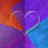Colorful background with heart, copy space card Stock Photography