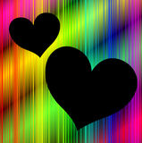 Colorful background with heart shaped copy space Stock Image