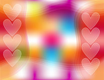 Colorful background with hearts Royalty Free Stock Images