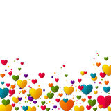 Colorful Background with Hearts Royalty Free Stock Photography